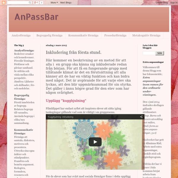 AnPassBar: Inkludering från första stund.