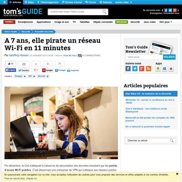 A 7 ans, elle pirate un réseau Wi-Fi en 11 minutes