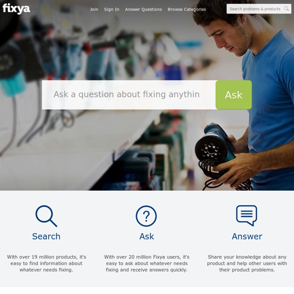 Product Problem Support, Troubleshooting Help & Repair Answers – Fixya