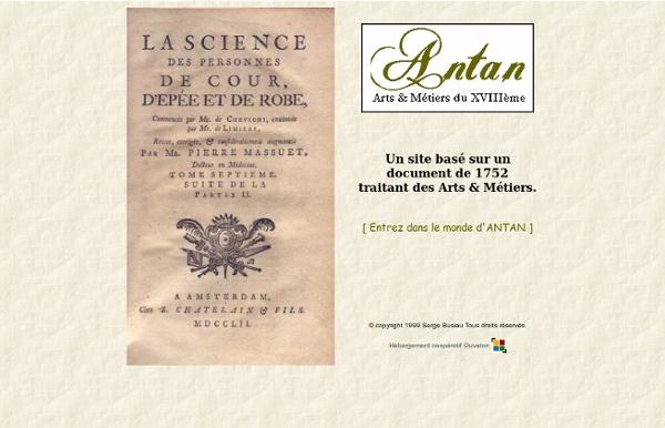 ANTAN - Les Arts & Métiers au XVIIIème Siècle