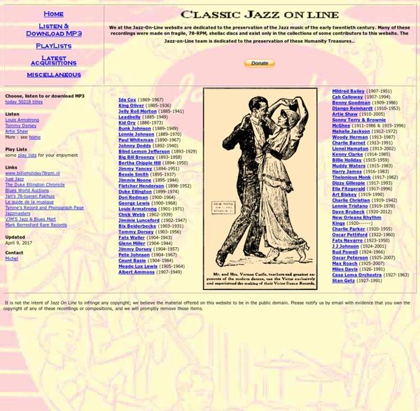 A Jazz Anthology MP3 Choose listen download 34910 tunes jazz artists