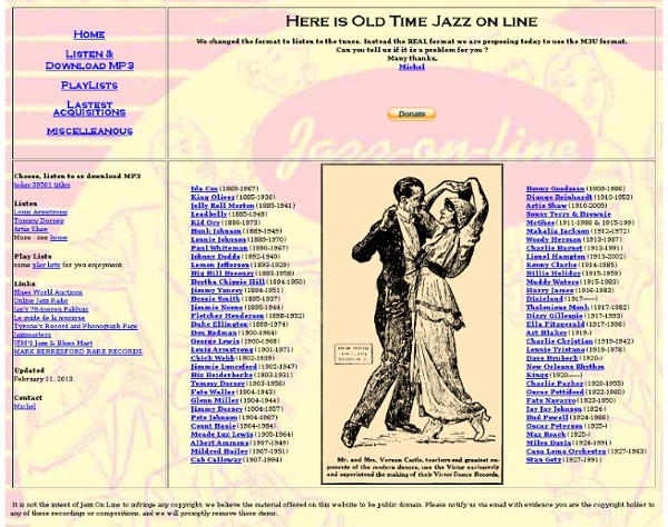 A Jazz Anthology MP3 Choose listen download MP3 tunes jazz artists