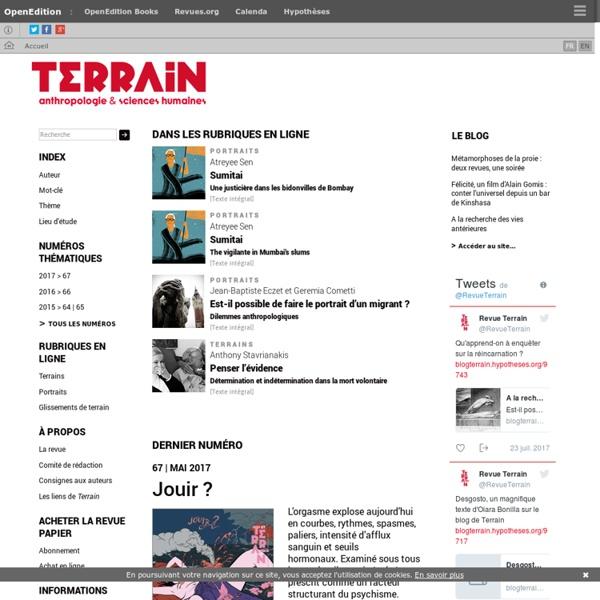 Terrain - Revue d'ethnologie de l'Europe