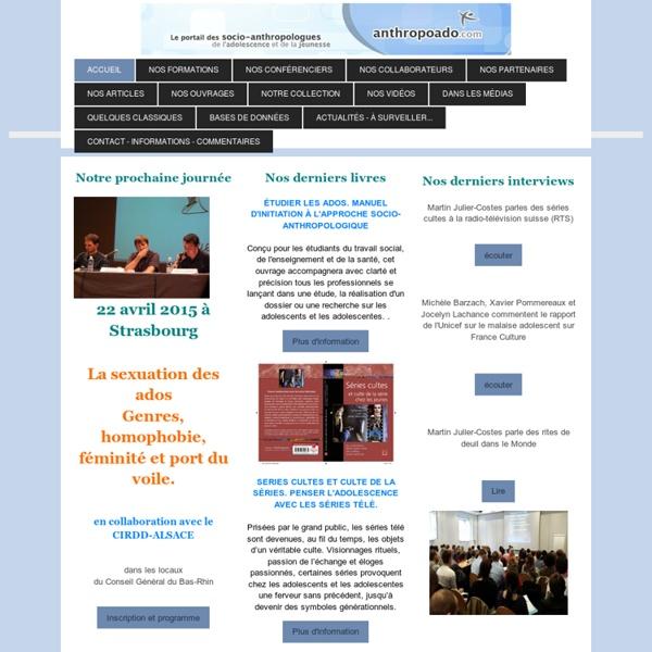 Le portail - accueil - Le portail des socio-anthropologues de l'adolescence et de la jeunesse pour les professionnels de travail social et de l'enseignement.