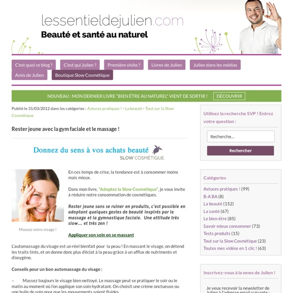 Exercices/ Gym & massage du visage