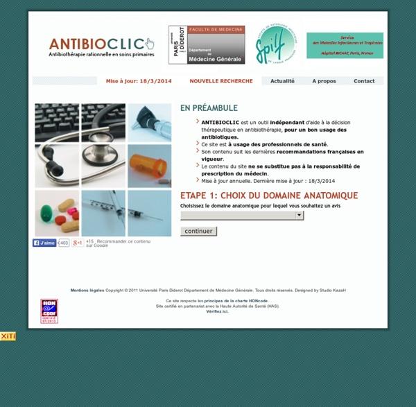 ANTIBIOCLIC: Antibiothéraphie rationnelle en soins primaires