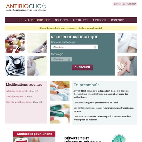 Antibioclic : Antibiothéraphie rationnelle en soins primaires