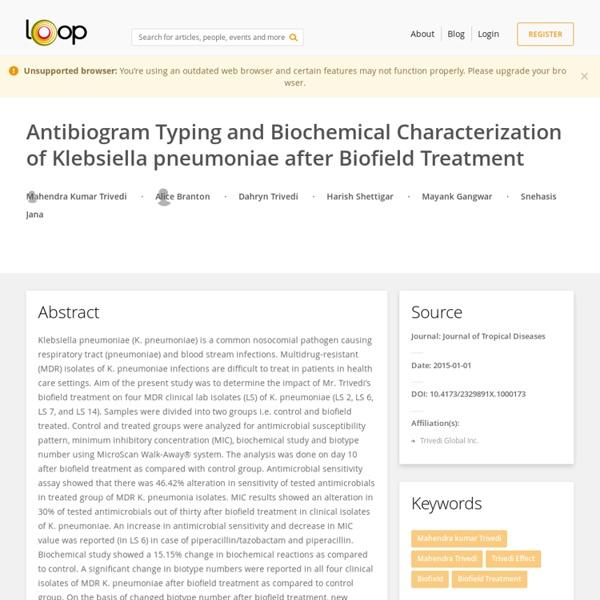 Klebsiella Pneumoniae Biochemical Characteristics Assessment