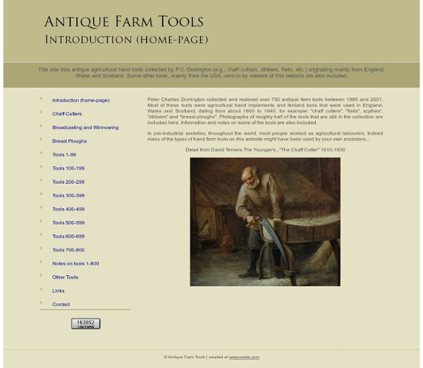 Antique Farm Tools - Introduction (home-page)