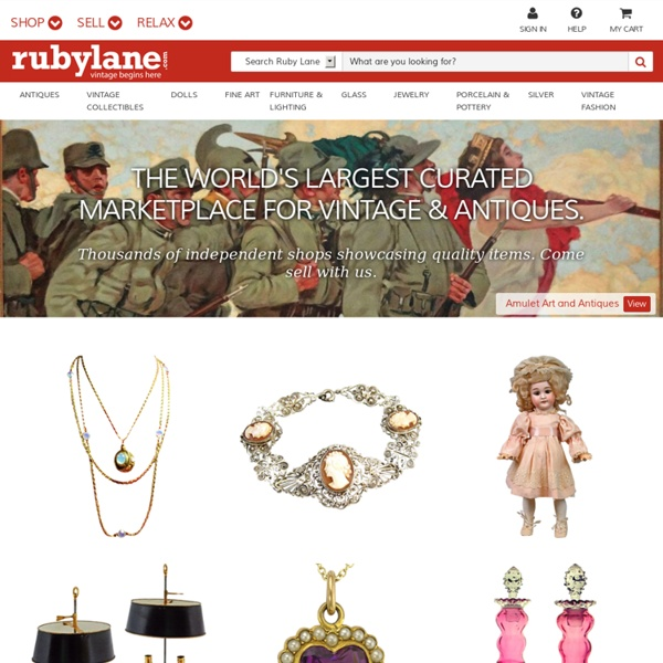Ruby Lane - Antiques & Art . Vintage Collectibles . Jewelry: Mon, February 1st
