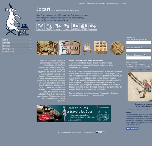 Jeux et jouets antiques, médiévaux et renaissants