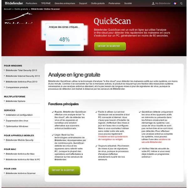 Analyse antivirus en ligne gratuite