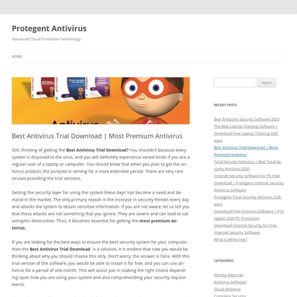 Best Antivirus Trial Download