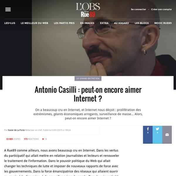 Antonio Casilli: peut-on encore aimer Internet?