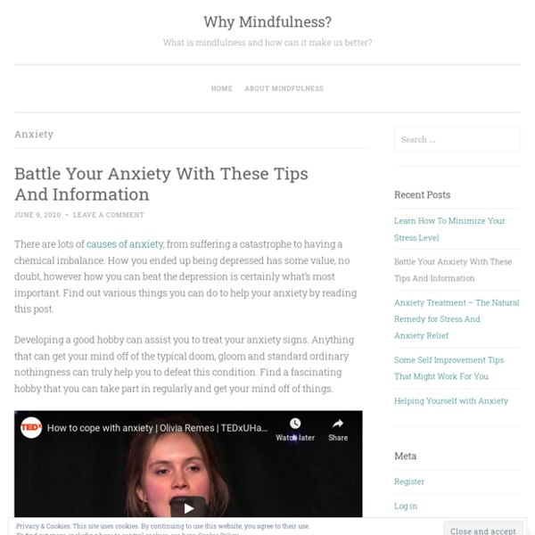 Managing Anxiety Attack