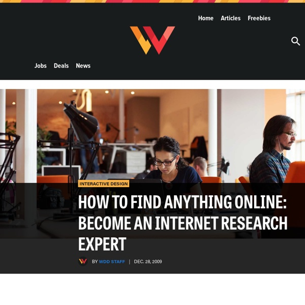 How to Find Anything Online: Become an Internet Research Expert