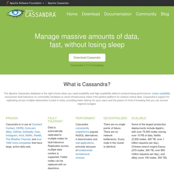 The Apache Cassandra Project