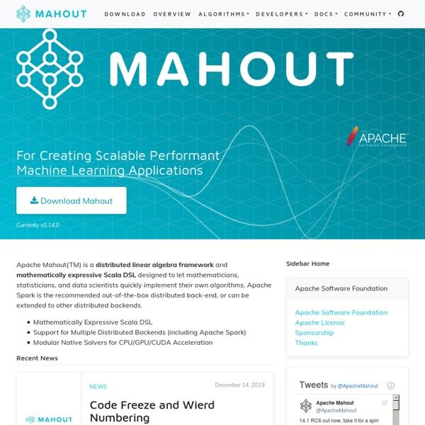 Algorithms - Apache Mahout
