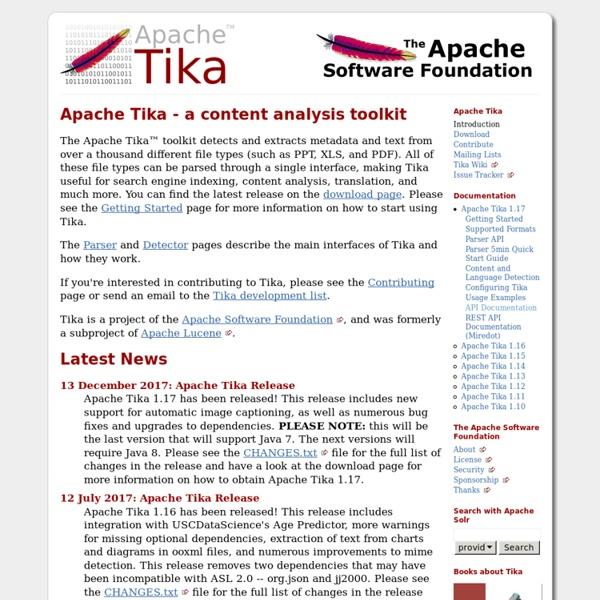 Apache Tika - Apache Tika