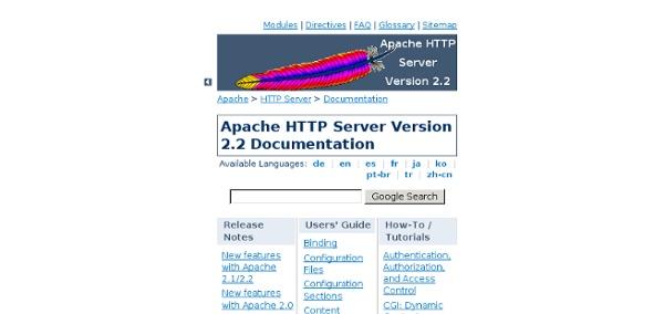 HTTP Server Version 2.2 Documentation