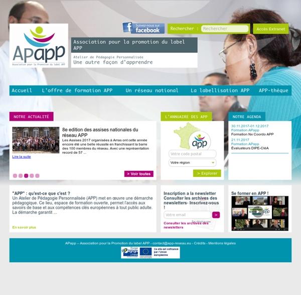 Association pour la Promotion du label APP (APAPP). In : APAPP.