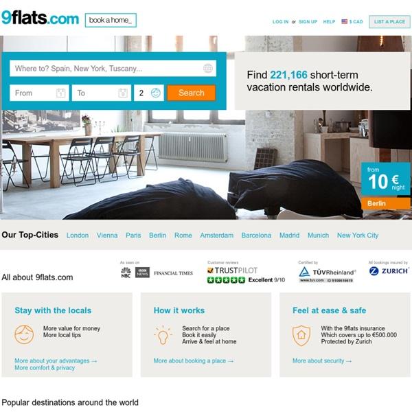 Short Term Rentals:Apartments, Homes and Rooms