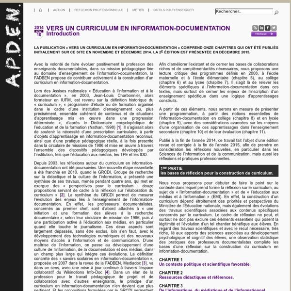 Curriculum en info-doc [APDEN]