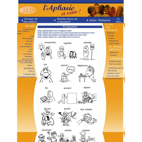 Les Aphasiques, Aphasie, AVC, TC et la rééducation