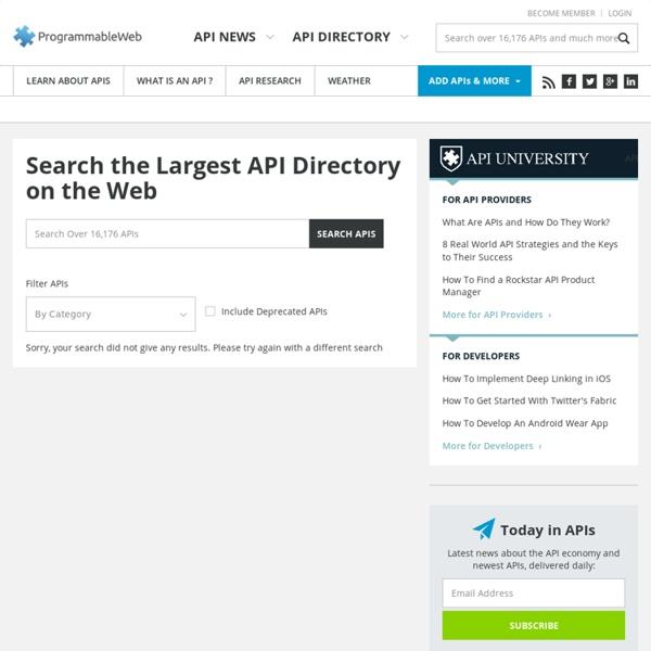 API Directory - ProgrammableWeb