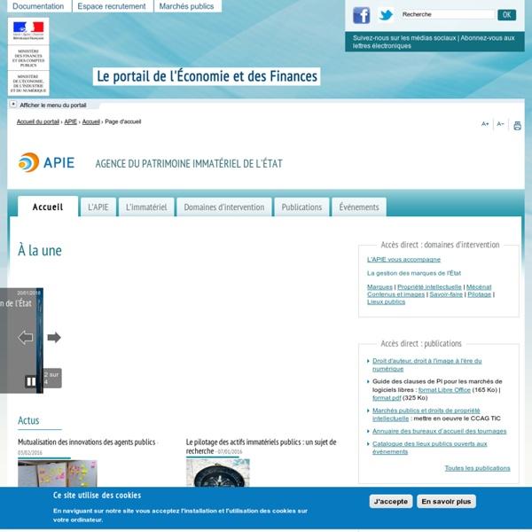 MINEFI - Directions et services - Agence du patrimoine immatérie