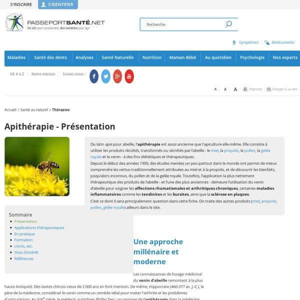 Définition de l'apithérapie