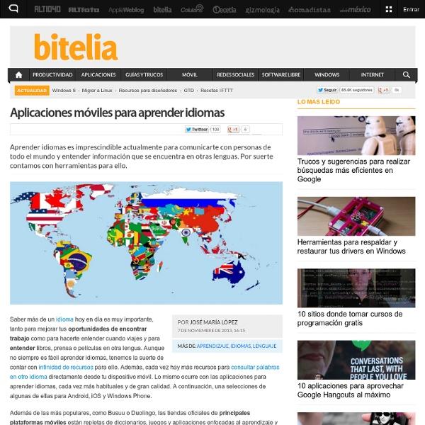 Aplicaciones para aprender idiomas en Android, iOS y Windows Phone