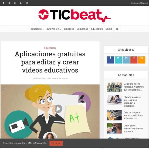 Aplicaciones gratuitas para editar y crear vídeos educativos