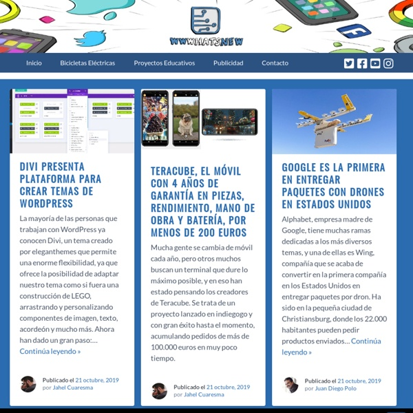 WWWhat's new? - Aplicaciones, marketing y noticias en la web