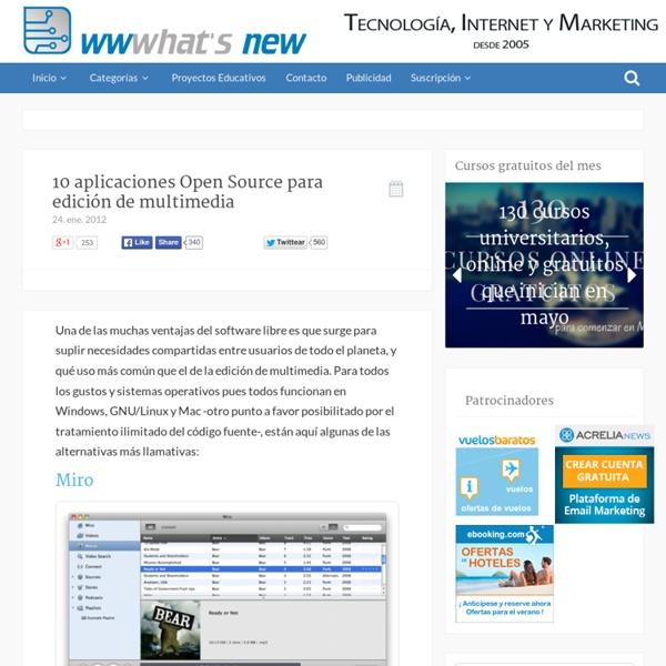10 aplicaciones Open Source para edición de multimedia