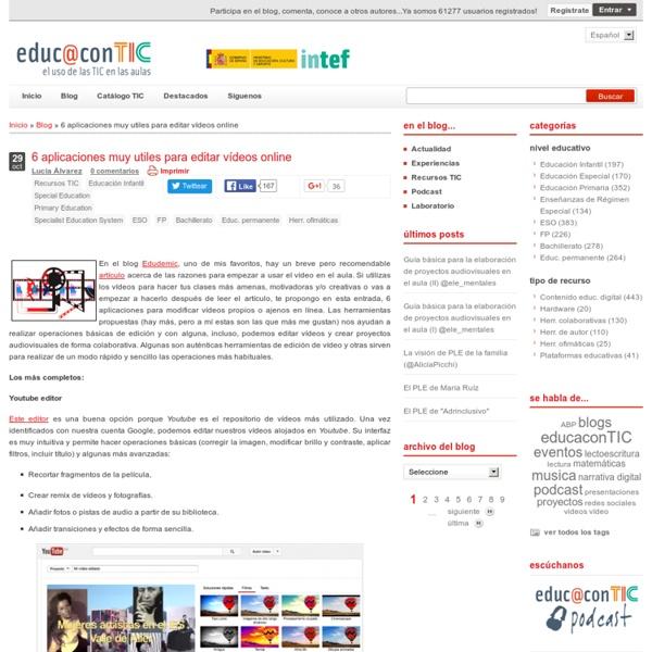 6 aplicaciones muy utiles para editar vídeos online