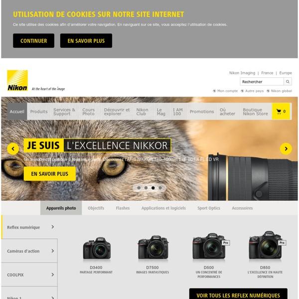 Page d'accueil - Nikon France, appareils photo numériques, argentiques, objectifs et Sport Optics