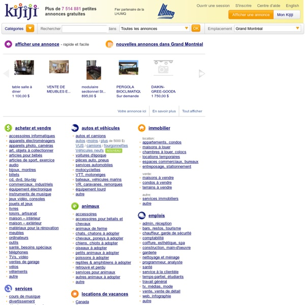 Visit Kijiji Classifieds to buy, sell, or trade almost anything! New and used items, cars, real estate, jobs, services, vacation rentals and more virtually anywhere in Ontario.