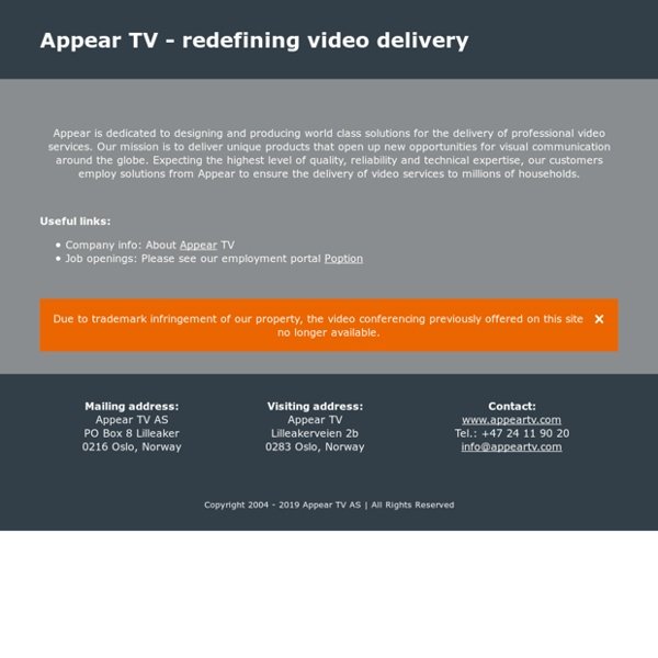 Appear.in – one click video conversations