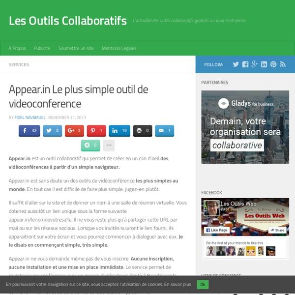 Appear.in Le plus simple outil de videoconference - Les Outils Collaboratifs