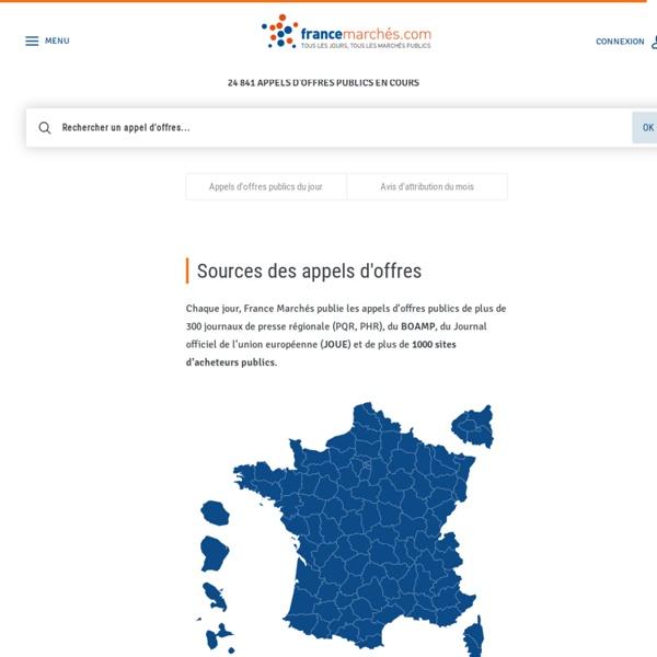 24 000 appels d'offres publics en cours sur France Marchés