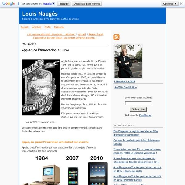 Apple : de l'innovation au luxe