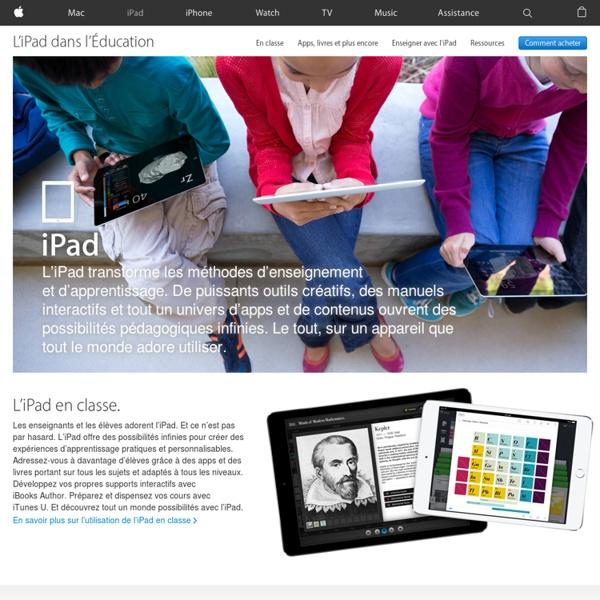 Éducation - L'iPad est le compagnon d'étude idéal.