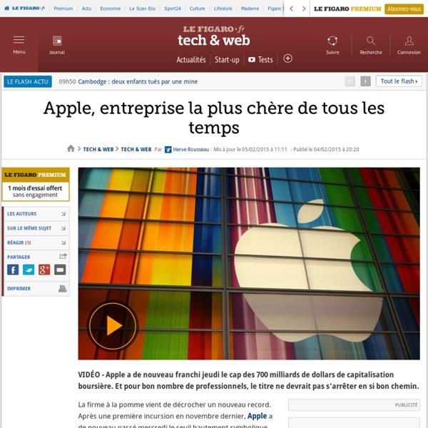 Apple, entreprise la plus chère de tous les temps