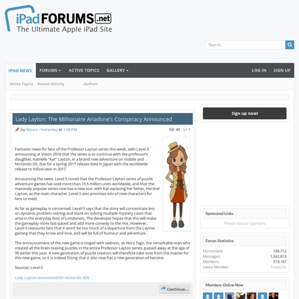 iPad Forum