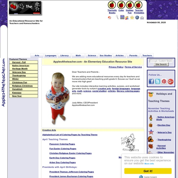 Apples4theteacher.com - A Primary Website - Educational Games and ...