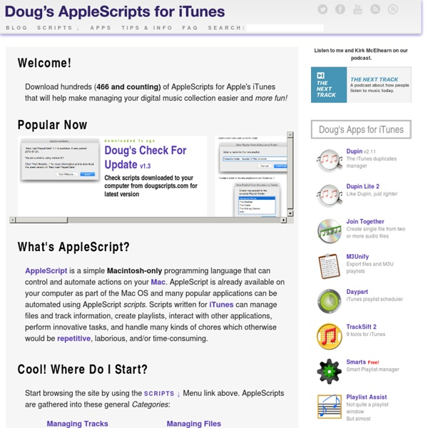 Doug's AppleScripts for iTunes