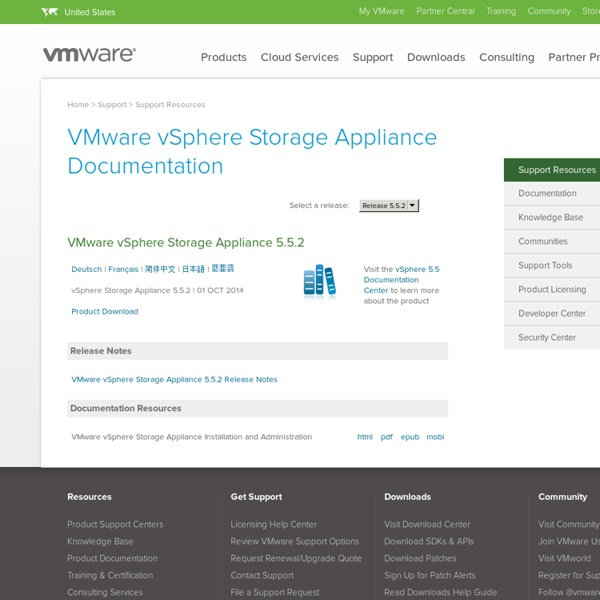 vSphere Storage Appliance Documentation