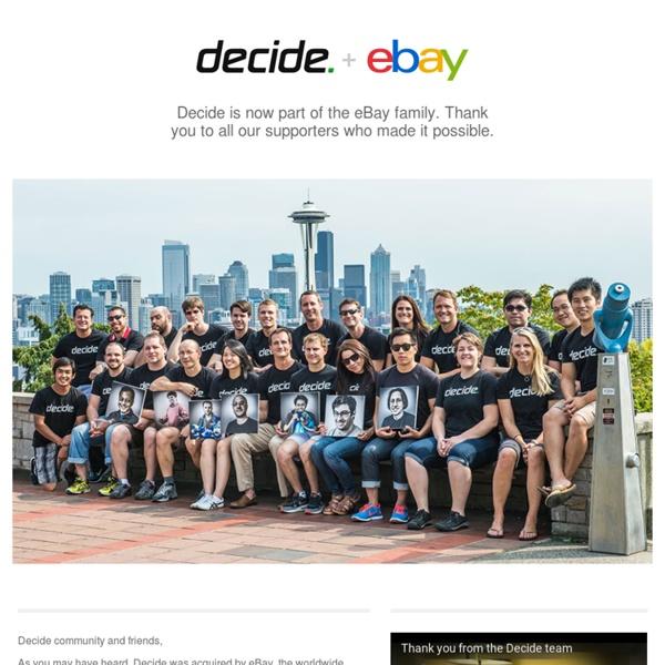 Decide.com: Online Shopping for TVs, Computers, Cameras & Electronics