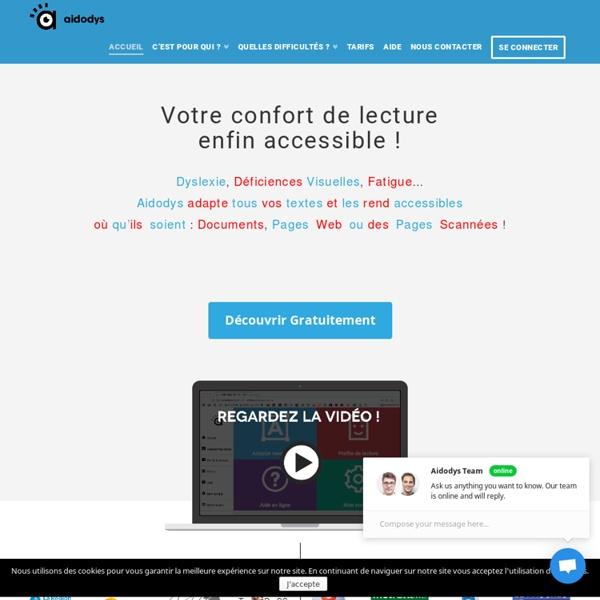 Aidodys - Application en ligne innovante pour la dyslexie, dyspraxie, dysphasie et troubles visuels